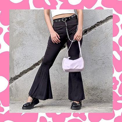 Black Retro Wide Pants