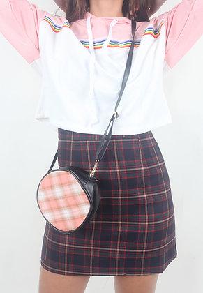 Plaid Circle Sling Bag