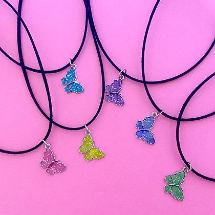 Glitter Butterfly Choker
