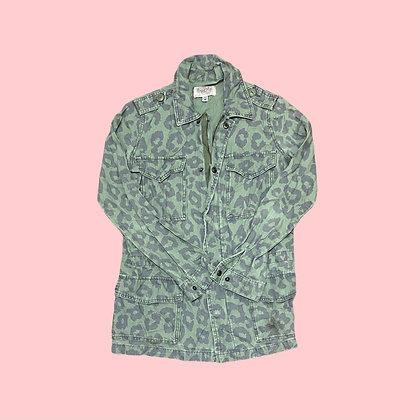 Animal Print Army Jacket