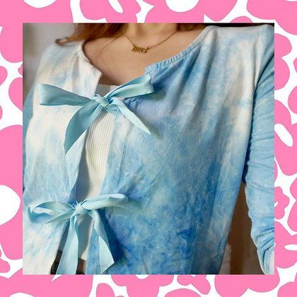 Sky Blue Tie Dye Cardigan