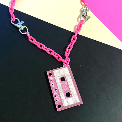 Cassette Pink Necklace