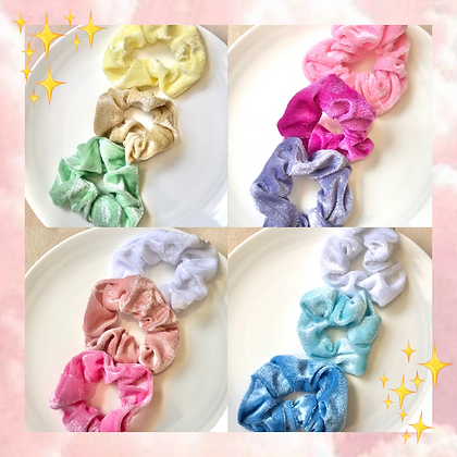 Pastel Velvet Scrunchies SET Hair Tie Scrunchie