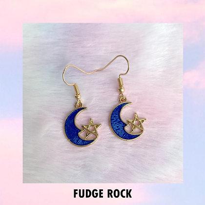 Blue Moon Star Earrings