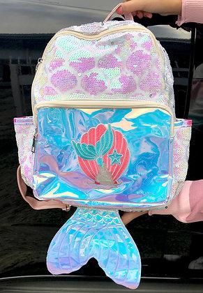 Holo Mermaid Sequins Backpack