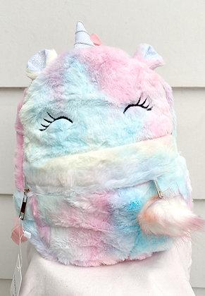 Fluffy Unicorn Pastel Backpack