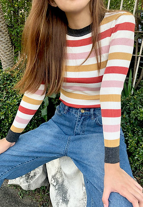 Stripes Knitted Candy Top
