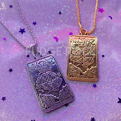 Tarot Card Big Bling Necklace