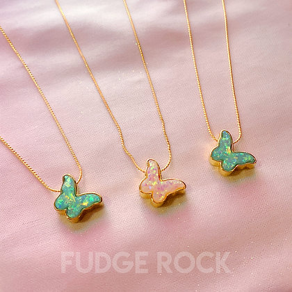 Simple Glitter Butterfly Necklace