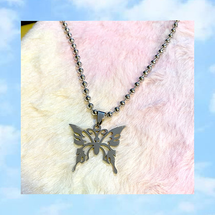 Stainless Vintage Butterfly Necklace