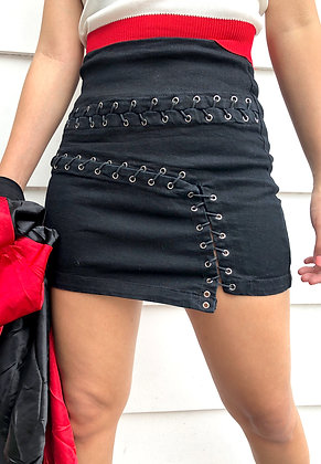 Black Stitches Skirt