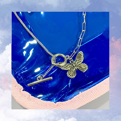 Big Butterfly Chain Necklace