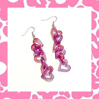 Glitter Hearts Earrings