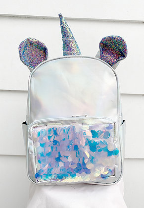 Unicorn Glitter Holo Backpack