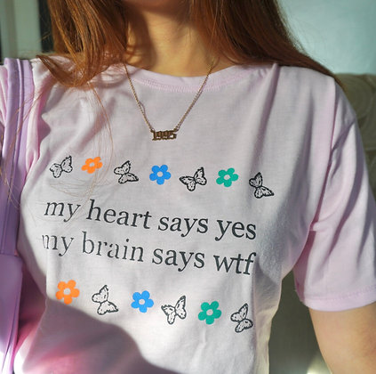 My Brain Says wtf unisex tee