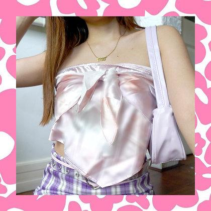 Pastel Tie Dye Silk Ribbon Top