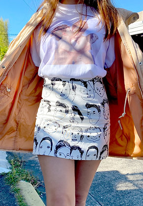 Faces White Skirt