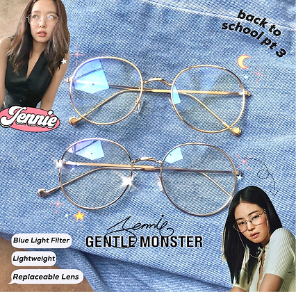 Jennie Gentle Monster Specs Dupe Blue Light Filter