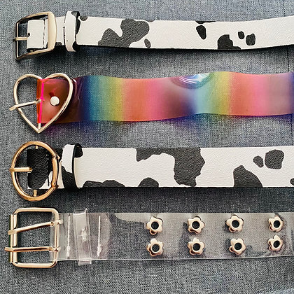 Cow Rainbow Clear Belts