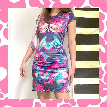 Butterfly Tie Dye Dress