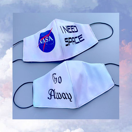 Go Away / NASA face mask