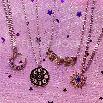 Silver La Lune Collection Necklace