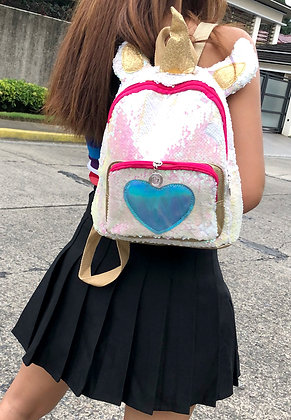 Unicorn Heart Sequins Backpack