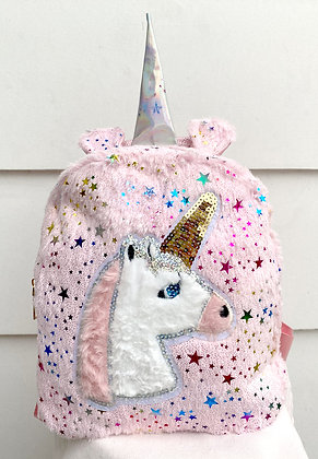 Fluffy Starry Unicorn Backpack