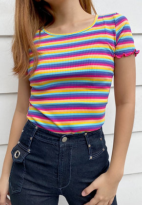 Rainbow Ribbed Lettuce Top