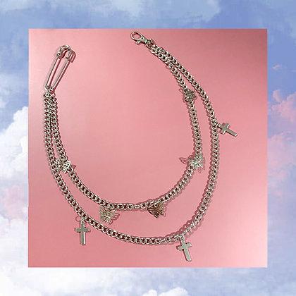 Butterfly Cross Waist Chain