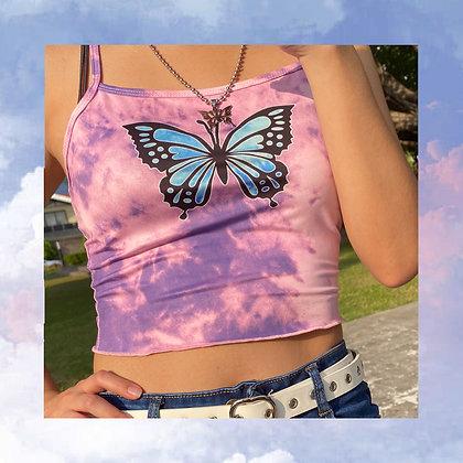 Butterfly Tie Dye Tank Top