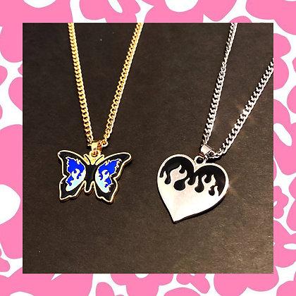 Butterfly Heart Flames