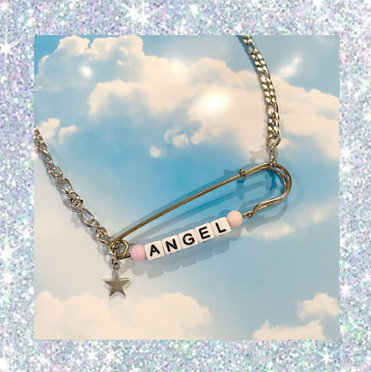 Custom Name Y2k Safety Pin Necklace