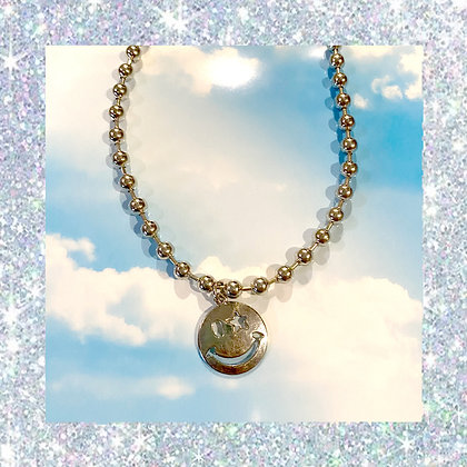 Smiley Ball Chain Necklace