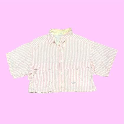 Pink Stripes Cropped Polo