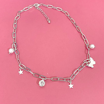 Simple Butterfly Charms Necklace