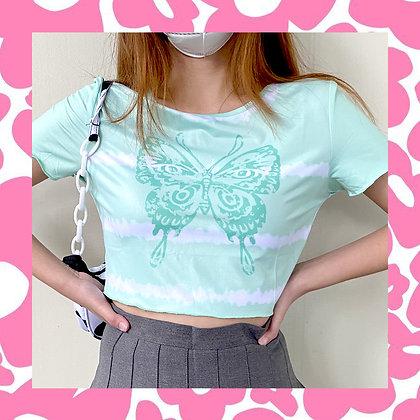 Mint Butterfly Top