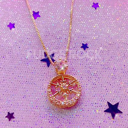 Snowflake Crystal Rosegold Necklace