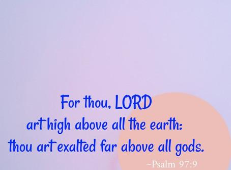 We exalt Thee!