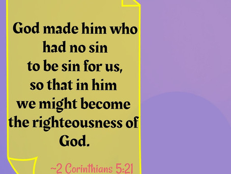 Righteous in Christ!
