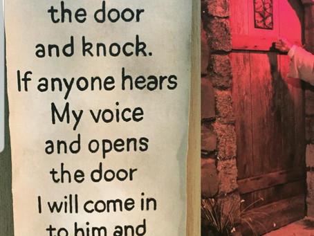 He knocks & waits!