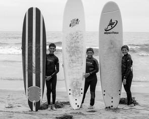 Surfing at Half Moon Bay, CA
