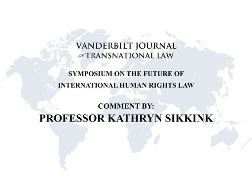 """Human Rights, Responsibilities, and Democracy,"" Sikkink Comments on Tasioulas and Moyn Papers"
