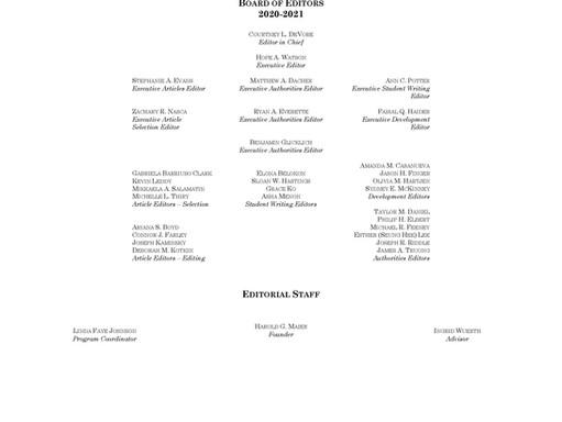 2020-2021 Editorial Board