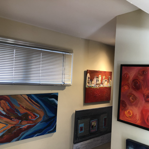 All four paintings are Sheryl Siddiqui originals