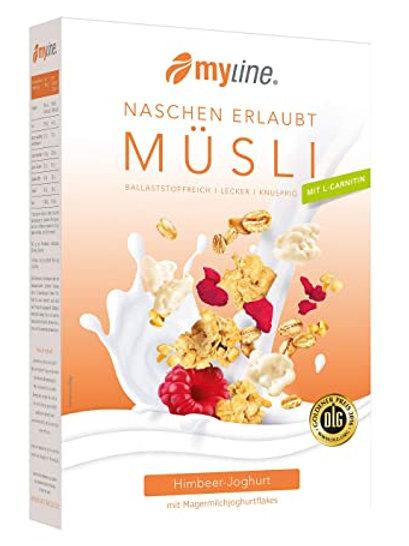 "myline Knuspermüsli ""Himbeer-Joghurt"", 500 gr."