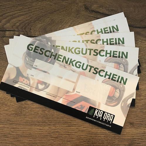Geschenkgutschein 20 bis 200 Euro