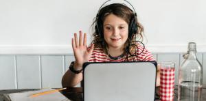 boy coding in virtual camp