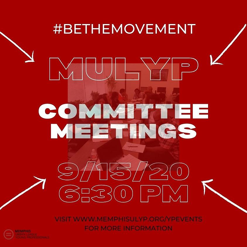 MULYP September Committee Meetings