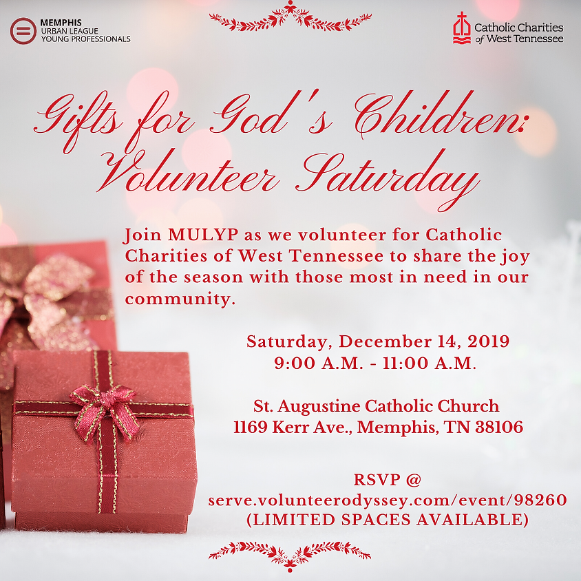 Gifts for God's Children: Volunteer Saturday w/ Catholic Charities of West Tennessee